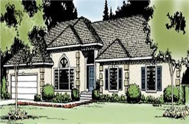 3-Bedroom, 2070 Sq Ft Contemporary House Plan - 119-1173 - Front Exterior