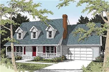 3-Bedroom, 1986 Sq Ft Country House Plan - 119-1174 - Front Exterior