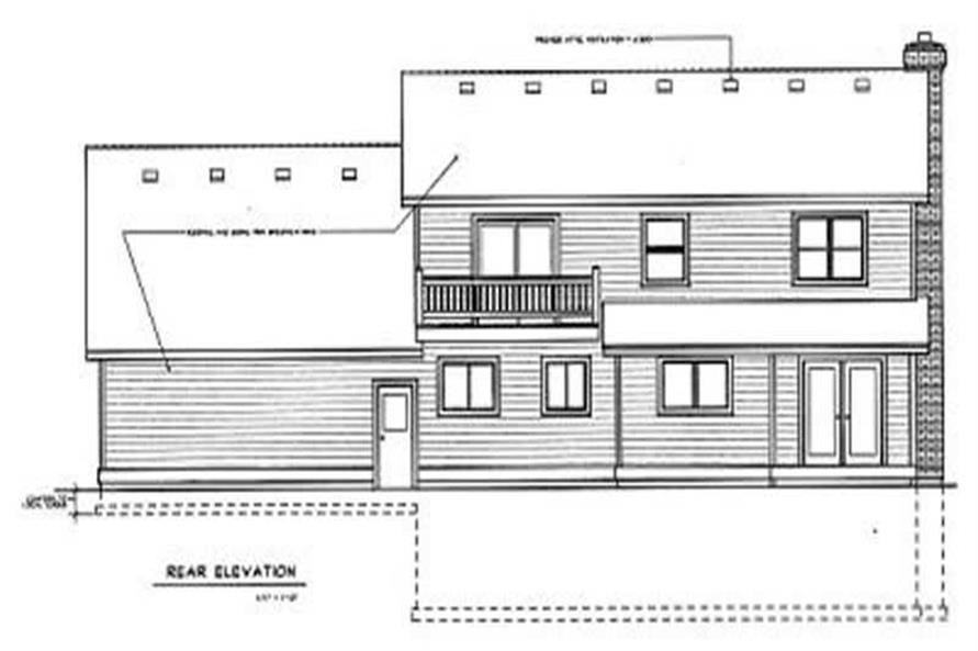 Home Plan Rear Elevation of this 3-Bedroom,1986 Sq Ft Plan -119-1174
