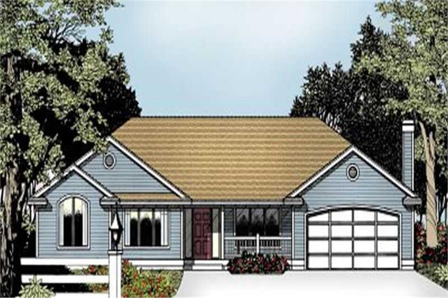 Home Plan Rendering of this 3-Bedroom,1969 Sq Ft Plan -119-1175
