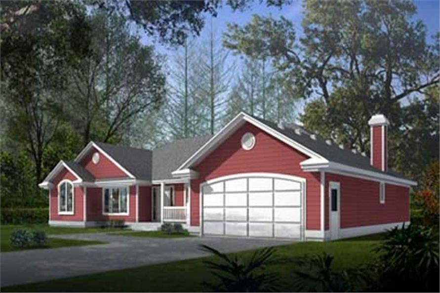 3-Bedroom, 1969 Sq Ft Ranch House Plan - 119-1175 - Front Exterior