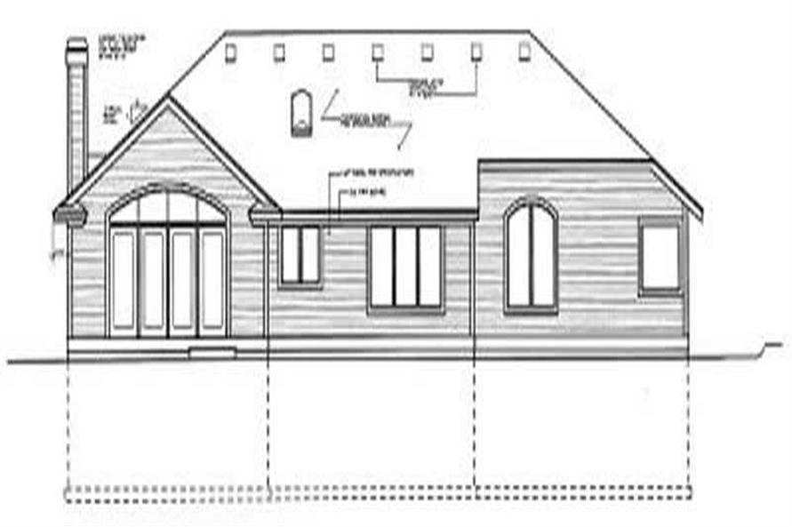 Home Plan Rear Elevation of this 3-Bedroom,1969 Sq Ft Plan -119-1175