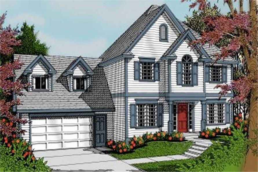 3-Bedroom, 1857 Sq Ft Country House Plan - 119-1176 - Front Exterior