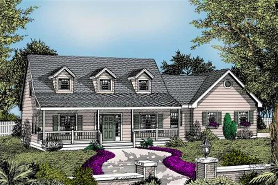 3-Bedroom, 1830 Sq Ft Country House Plan - 119-1177 - Front Exterior