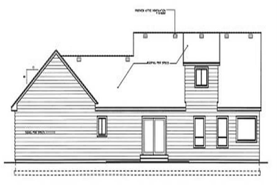 Home Plan Rear Elevation of this 3-Bedroom,1830 Sq Ft Plan -119-1177