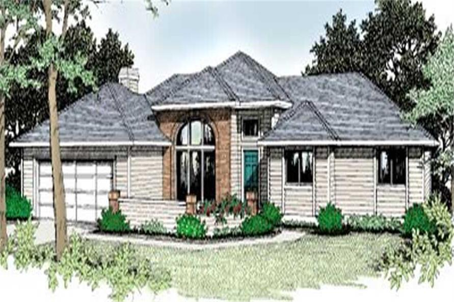 3-Bedroom, 1800 Sq Ft Contemporary House Plan - 119-1178 - Front Exterior