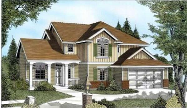 Main image for house plan # 2077