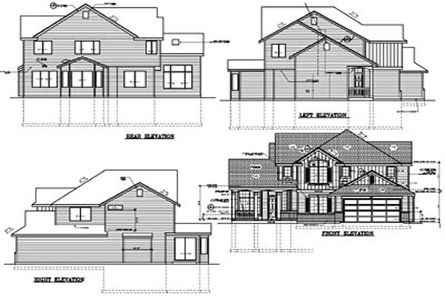 Home Plan Rear Elevation of this 3-Bedroom,2339 Sq Ft Plan -119-1179