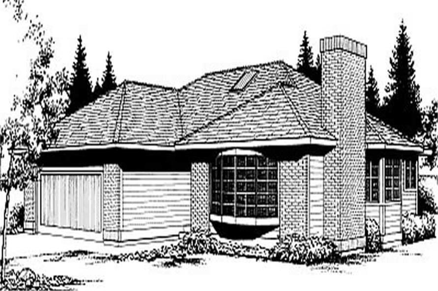 2-Bedroom, 1245 Sq Ft Ranch House Plan - 119-1181 - Front Exterior