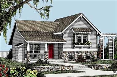 3-Bedroom, 1224 Sq Ft Small House Plans - 119-1182 - Front Exterior