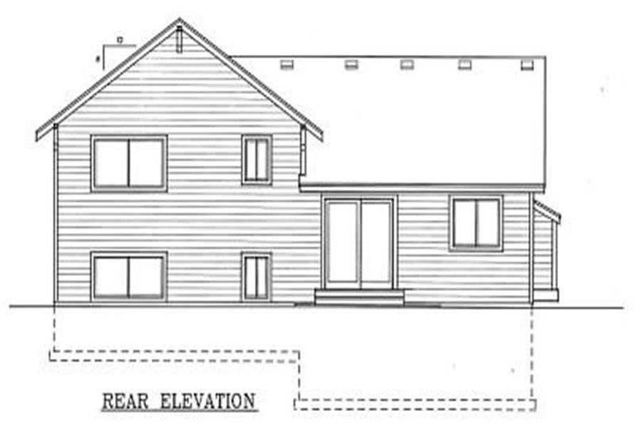 Home Plan Rear Elevation of this 3-Bedroom,1224 Sq Ft Plan -119-1182