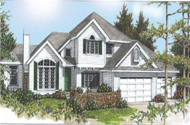 4-Bedroom, 2394 Sq Ft Contemporary House Plan - 119-1183 - Front Exterior