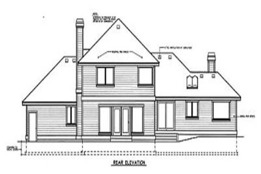 Home Plan Rear Elevation of this 4-Bedroom,2394 Sq Ft Plan -119-1183