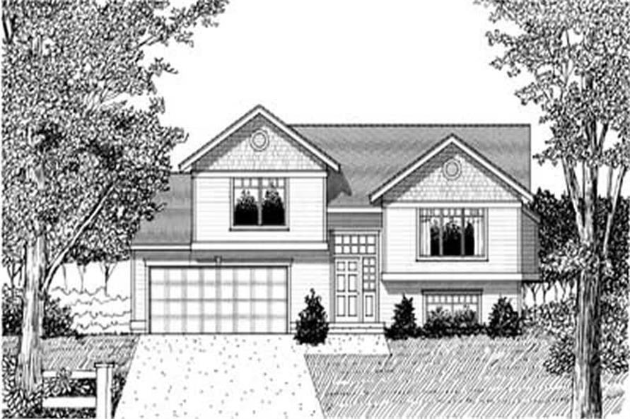 3-Bedroom, 983 Sq Ft Ranch House Plan - 119-1186 - Front Exterior