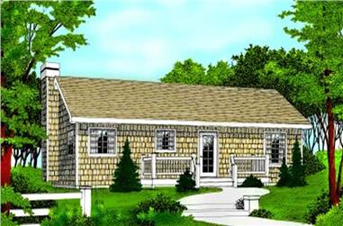2-Bedroom, 960 Sq Ft Ranch House Plan - 119-1187 - Front Exterior
