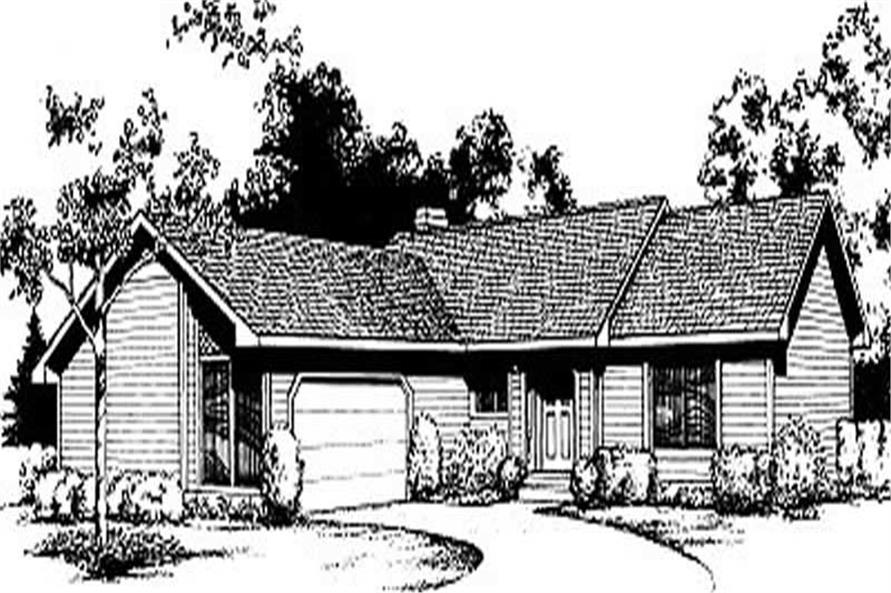2-Bedroom, 947 Sq Ft Ranch House Plan - 119-1188 - Front Exterior