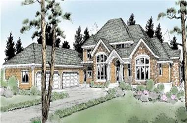 4-Bedroom, 5101 Sq Ft European Home Plan - 119-1189 - Main Exterior
