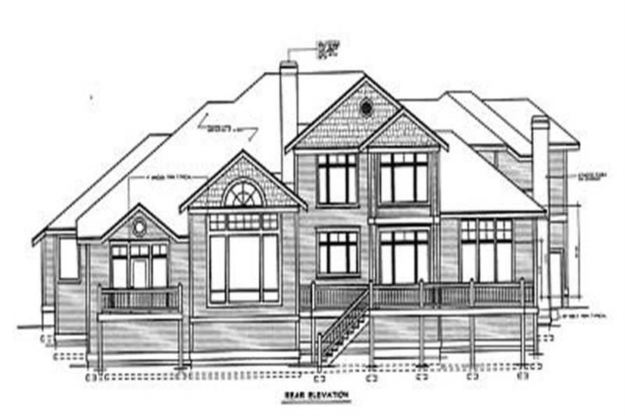 Home Plan Rear Elevation of this 4-Bedroom,4701 Sq Ft Plan -119-1190