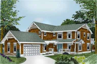 4-Bedroom, 3269 Sq Ft Country House Plan - 119-1191 - Front Exterior