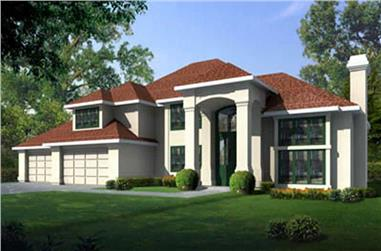 4-Bedroom, 4068 Sq Ft Contemporary House Plan - 119-1192 - Front Exterior