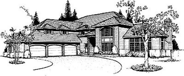 Prairie homeplans DDI89-201 rendering.