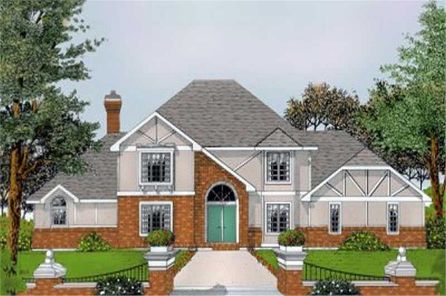 Front Elevation of this 5-Bedroom,3419 Sq Ft Plan -3419