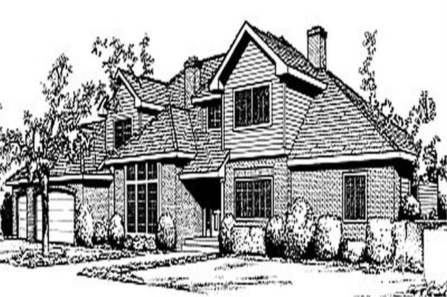 4-Bedroom, 3383 Sq Ft Contemporary House Plan - 119-1196 - Front Exterior