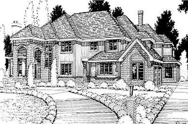 4-Bedroom, 4209 Sq Ft European House Plan - 119-1198 - Front Exterior