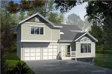 3-Bedroom, 1831 Sq Ft Ranch House Plan - 119-1199 - Front Exterior