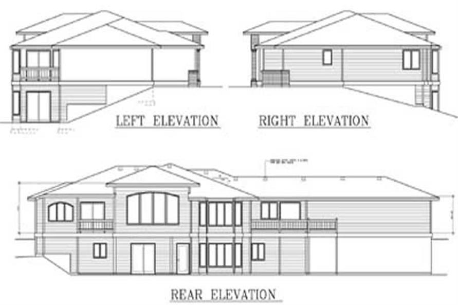 Home Plan Rear Elevation of this 2-Bedroom,2505 Sq Ft Plan -119-1200