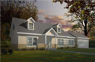 3-Bedroom, 1526 Sq Ft Cape Cod House Plan - 119-1204 - Front Exterior