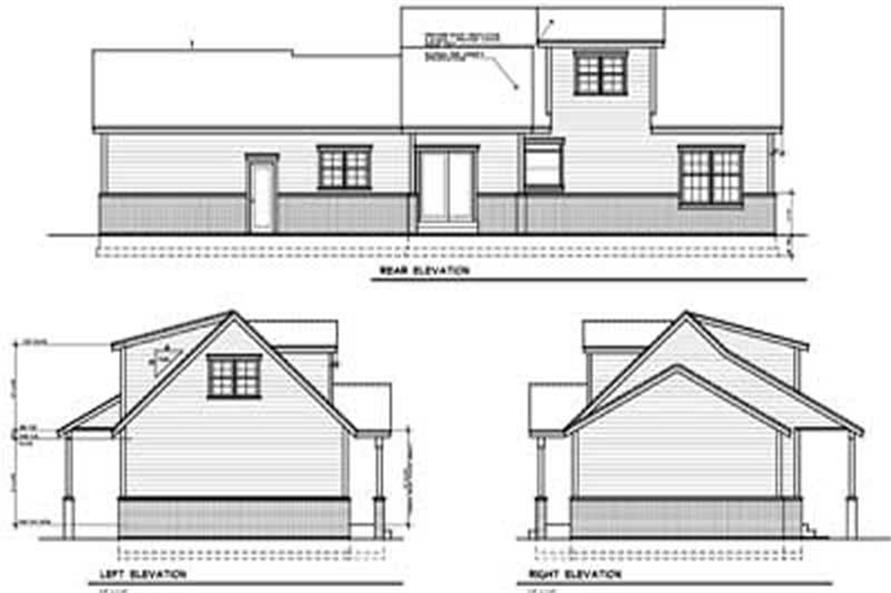 Home Plan Rear Elevation of this 3-Bedroom,1526 Sq Ft Plan -119-1204