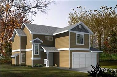 3-Bedroom, 1451 Sq Ft Small House Plans - 119-1205 - Front Exterior