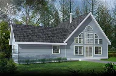 3-Bedroom, 1920 Sq Ft Vacation Homes House Plan - 119-1207 - Front Exterior