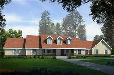 3-Bedroom, 2812 Sq Ft Country House Plan - 119-1208 - Main Exterior