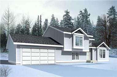 2-Bedroom, 991 Sq Ft Ranch House Plan - 119-1209 - Front Exterior