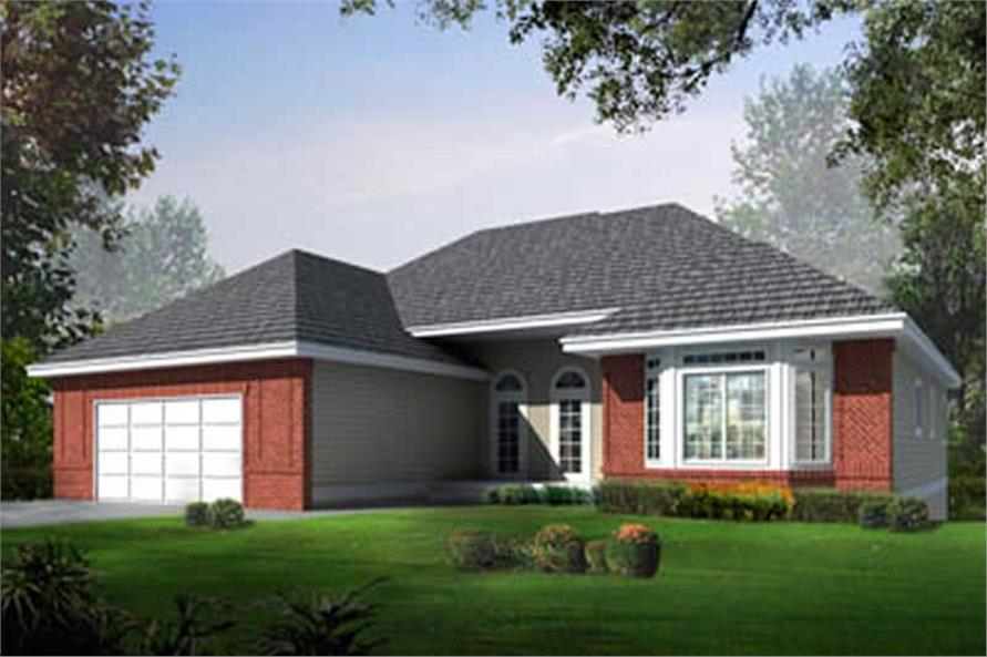 2-Bedroom, 1836 Sq Ft Ranch Home Plan - 119-1210 - Main Exterior