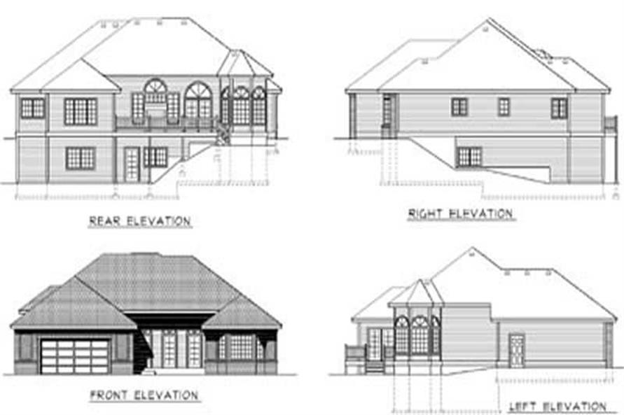 Home Plan Rear Elevation of this 2-Bedroom,1836 Sq Ft Plan -119-1210