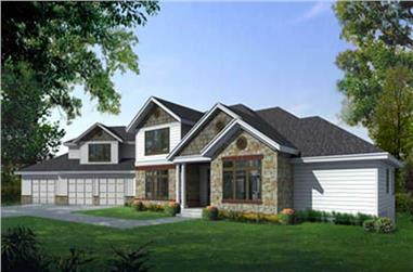 5-Bedroom, 4271 Sq Ft Craftsman House Plan - 119-1211 - Front Exterior