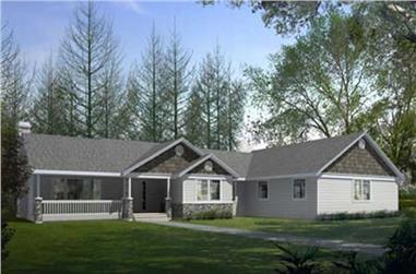 3-Bedroom, 2331 Sq Ft Craftsman Home Plan - 119-1213 - Main Exterior