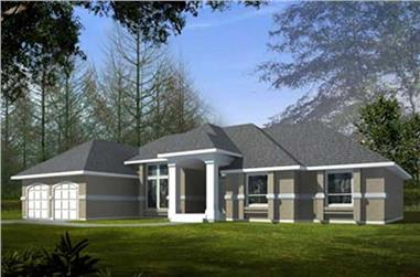 3-Bedroom, 1983 Sq Ft Colonial House Plan - 119-1214 - Front Exterior