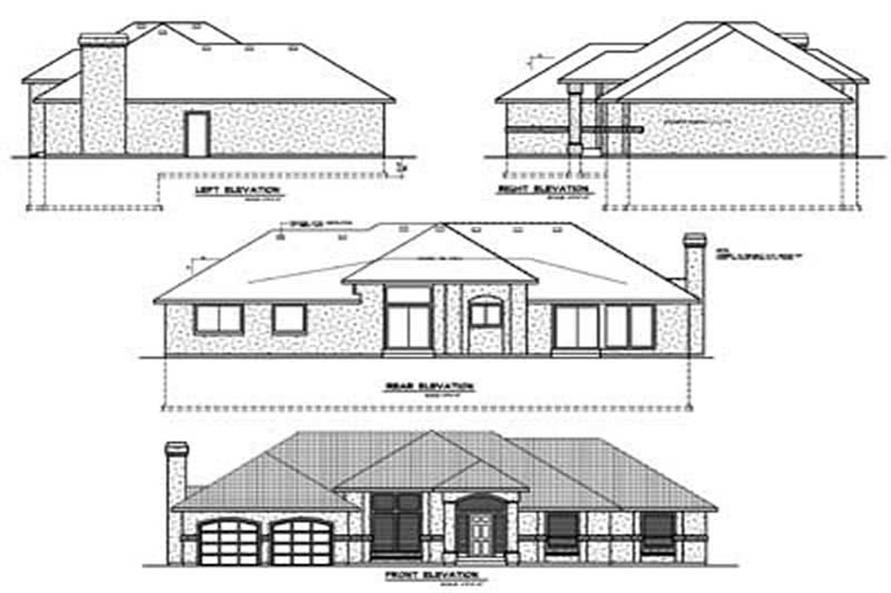 Home Plan Rear Elevation of this 3-Bedroom,1983 Sq Ft Plan -119-1214
