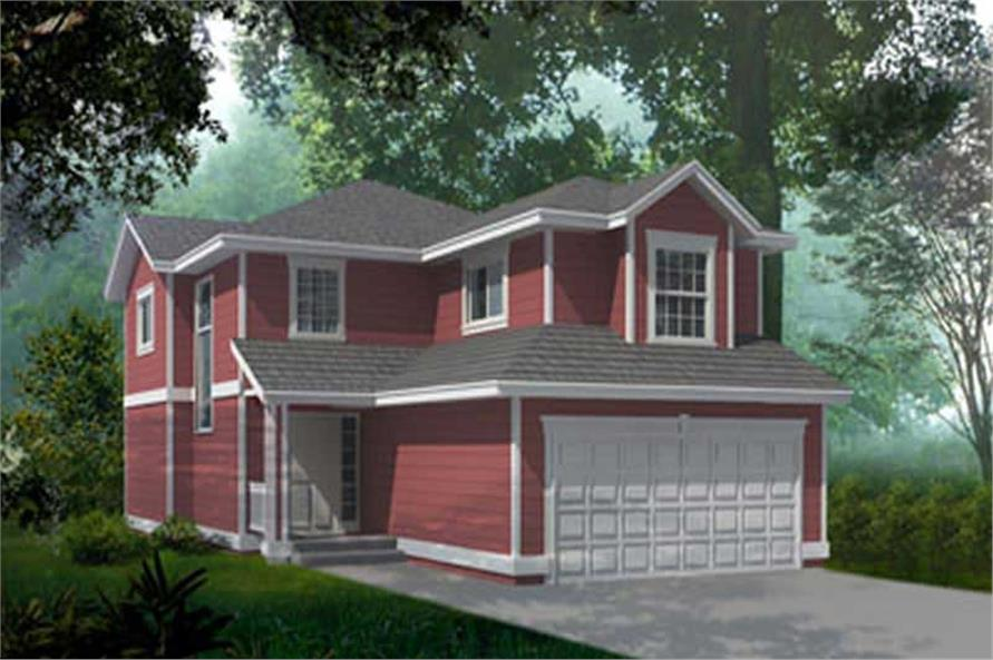 3-Bedroom, 1780 Sq Ft Ranch House Plan - 119-1216 - Front Exterior