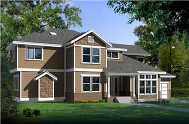 3-Bedroom, 2663 Sq Ft Contemporary House Plan - 119-1217 - Front Exterior