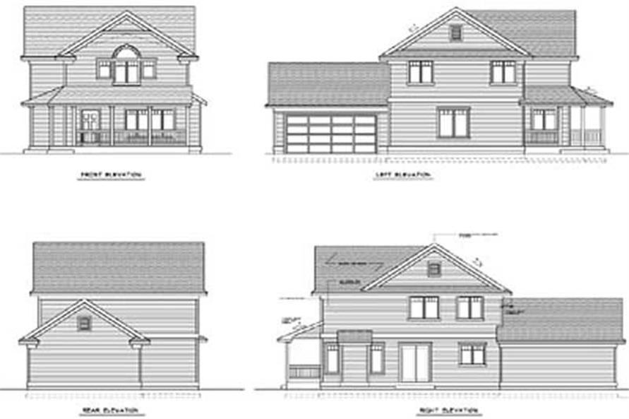 Home Plan Rear Elevation of this 3-Bedroom,1647 Sq Ft Plan -119-1218