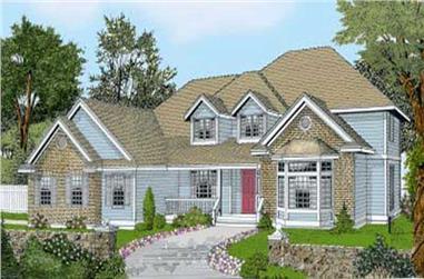 4-Bedroom, 3249 Sq Ft Cape Cod Home Plan - 119-1219 - Main Exterior