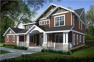 5-Bedroom, 3505 Sq Ft Ranch House Plan - 119-1221 - Front Exterior