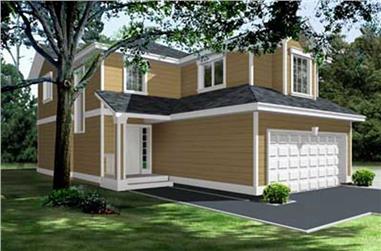 3-Bedroom, 1662 Sq Ft Craftsman Home Plan - 119-1223 - Main Exterior