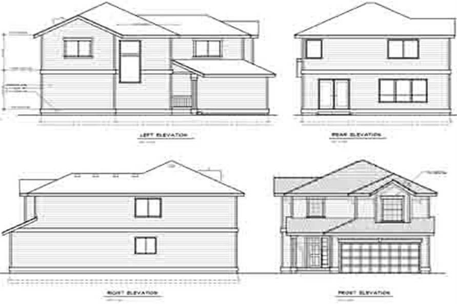 Home Plan Rear Elevation of this 3-Bedroom,1662 Sq Ft Plan -119-1223