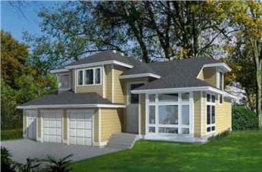 3-Bedroom, 2263 Sq Ft Craftsman House Plan - 119-1227 - Front Exterior